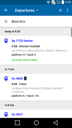 IDOS Timetables for Android - list of departures